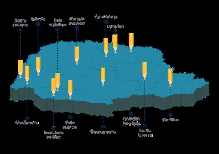 Mapa Câmpus da UTFPR