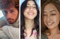 Na foto: Felipe, Maria Eduarda e Pamella