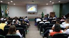 Palestra com o técnico da Seleção Brasileira de Handebol Feminina Adulta, Jorge Dueñas.