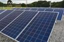 Placas de energia solar na Sede Neoville (Foto: Decom)