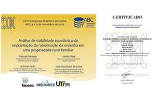 Certificado do artigo premiado