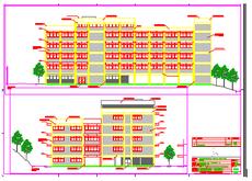 Imagem da fachada - projeto do Bloco J2