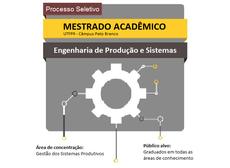 Imagem de divulgação do Programa de Pós-Graduação em Engenharia de Produção e Sistemas (PPGEPS)
